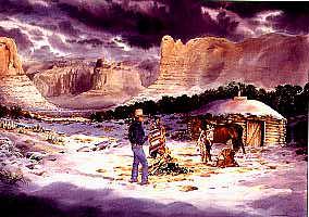 Navajo HOGAN: North American Native American Indian Pre-Contact Housing